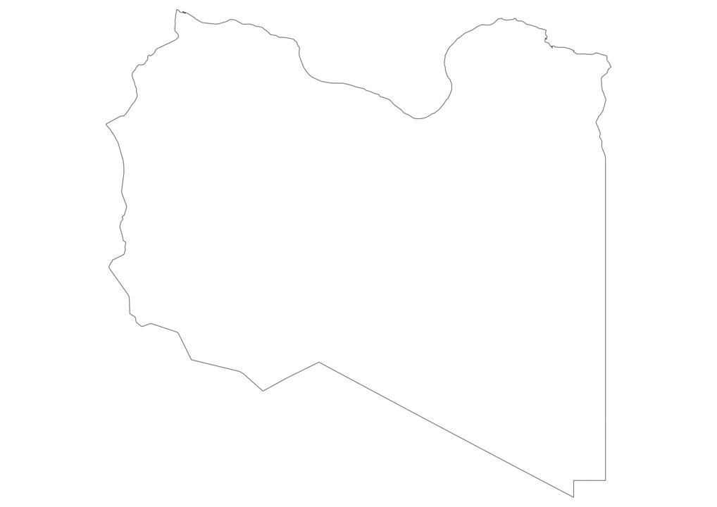 Libya Outline Map