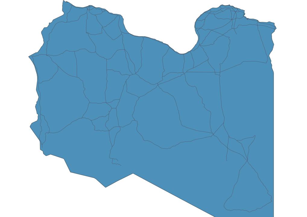 Map of Roads in Libya