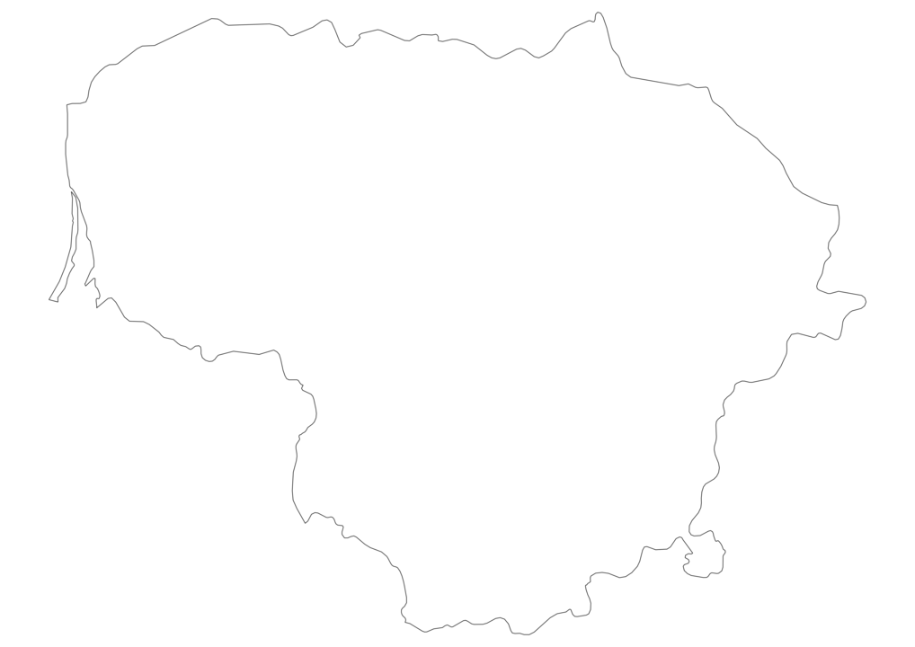 Lithuania Outline Map