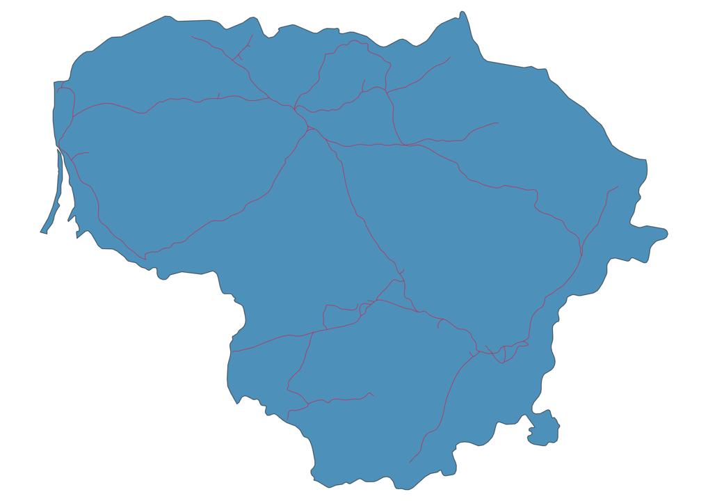 Lithuania Railway Map