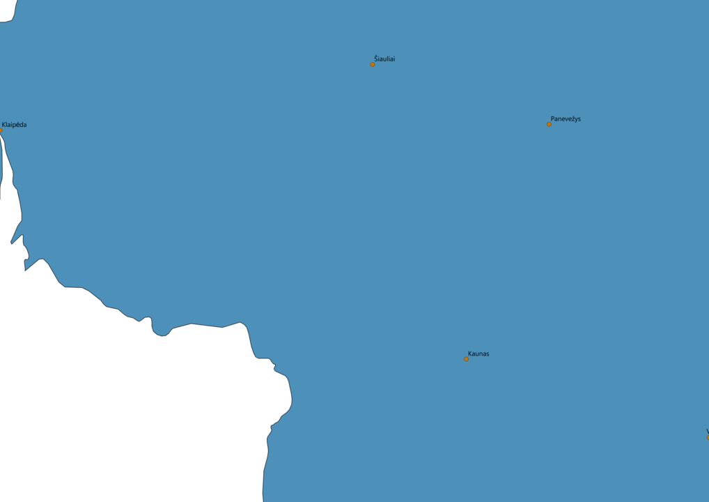 Lithuania Cities Map