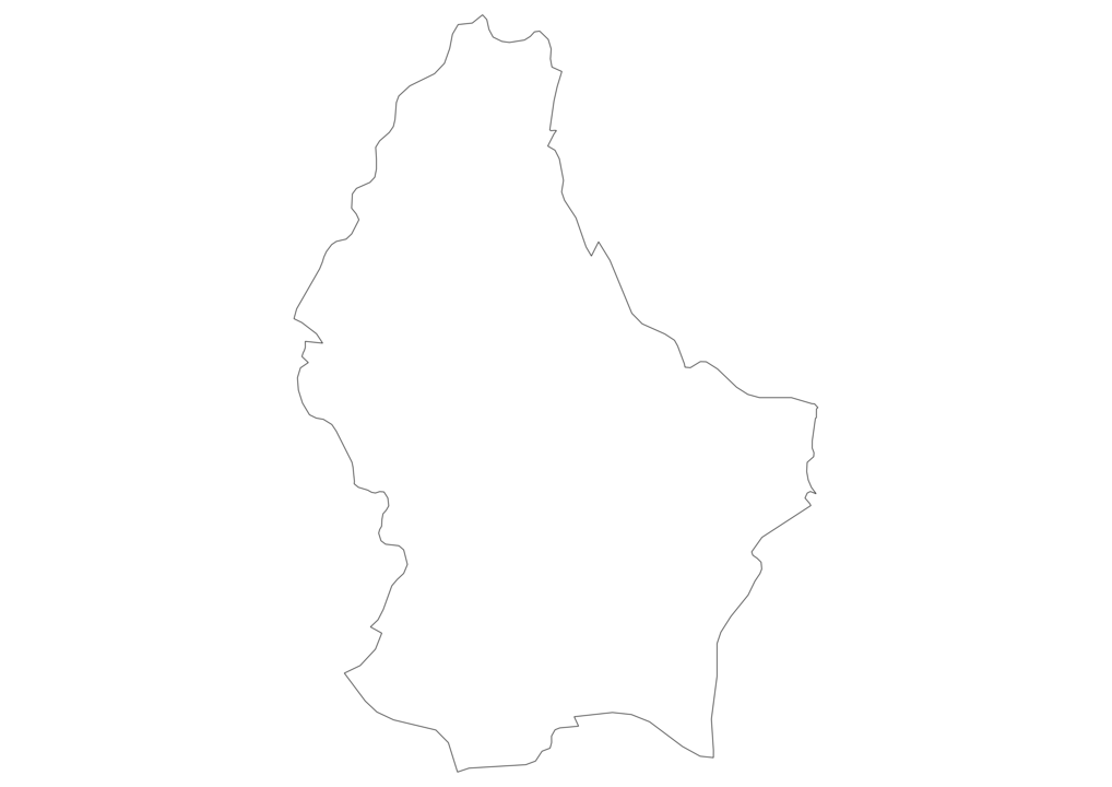 Luxembourg Outline Map