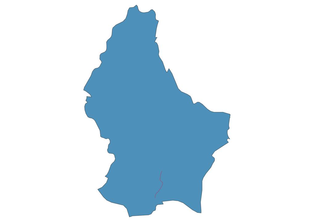 Luxembourg Railway Map