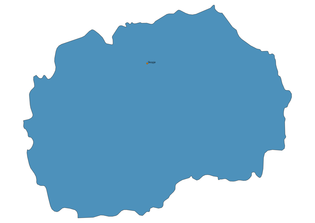 Map of Airports in Macedonia