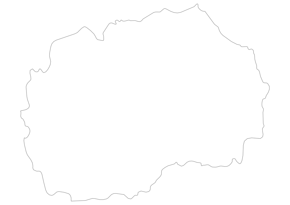 Macedonia Outline Map