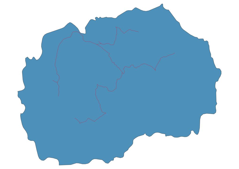 Macedonia Railway Map