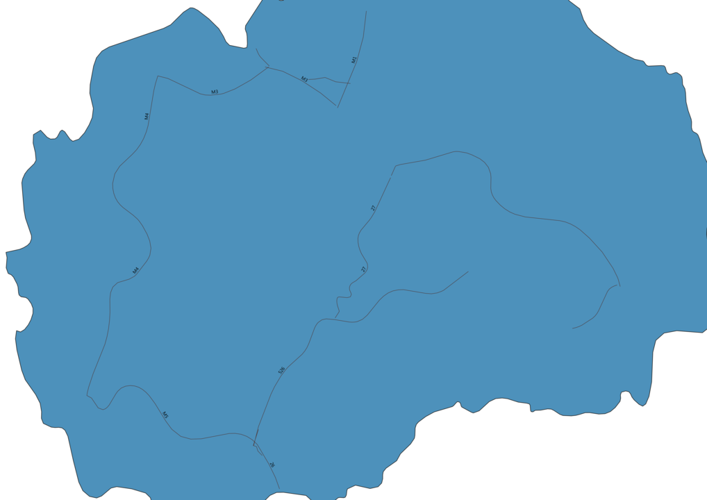 Map of Roads in Macedonia