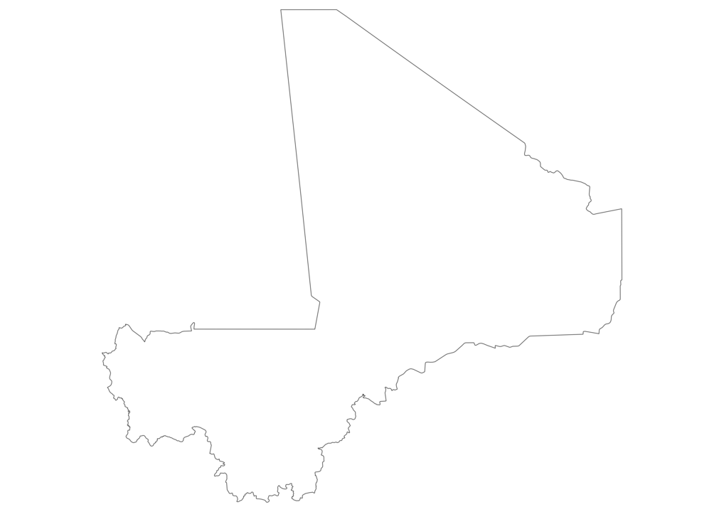 Mali Outline Map