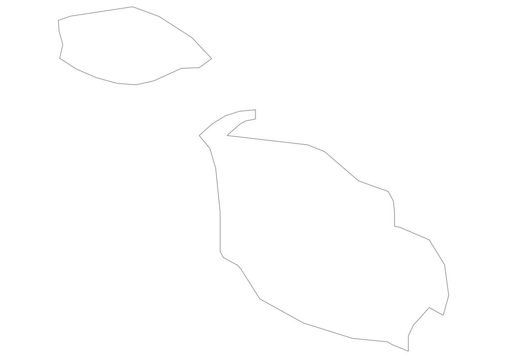Malta Outline Map