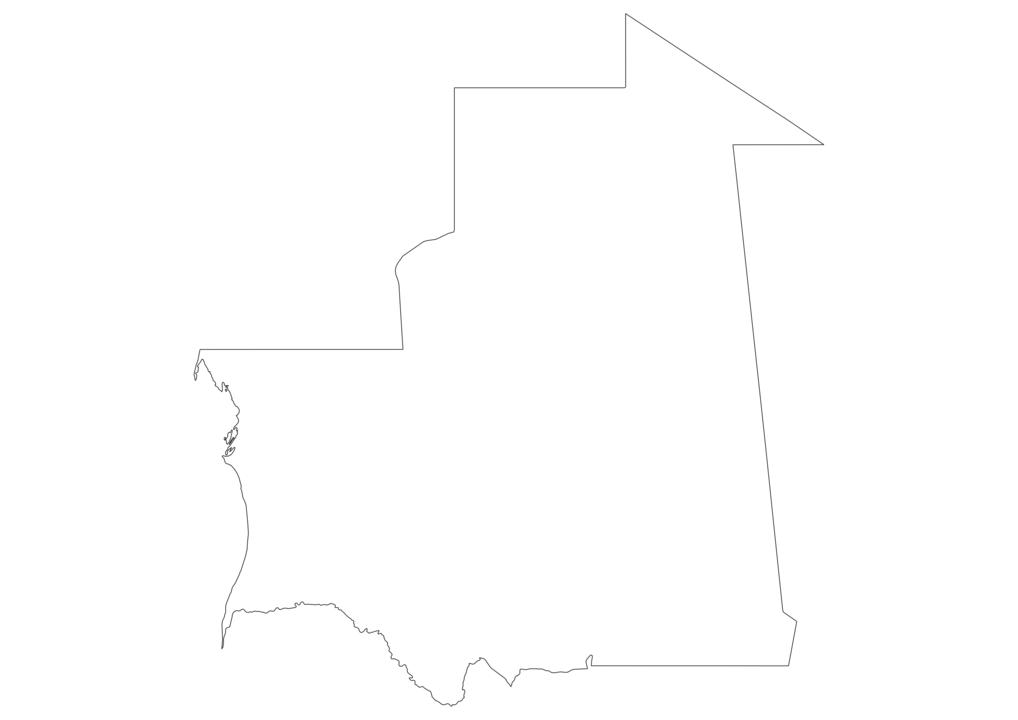 Mauritania Outline Map
