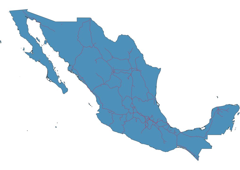 Mexico Railway Map