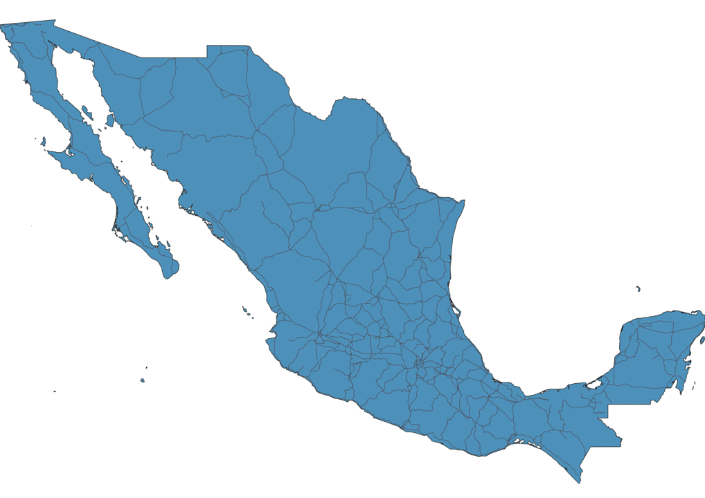 Map of Roads in Mexico