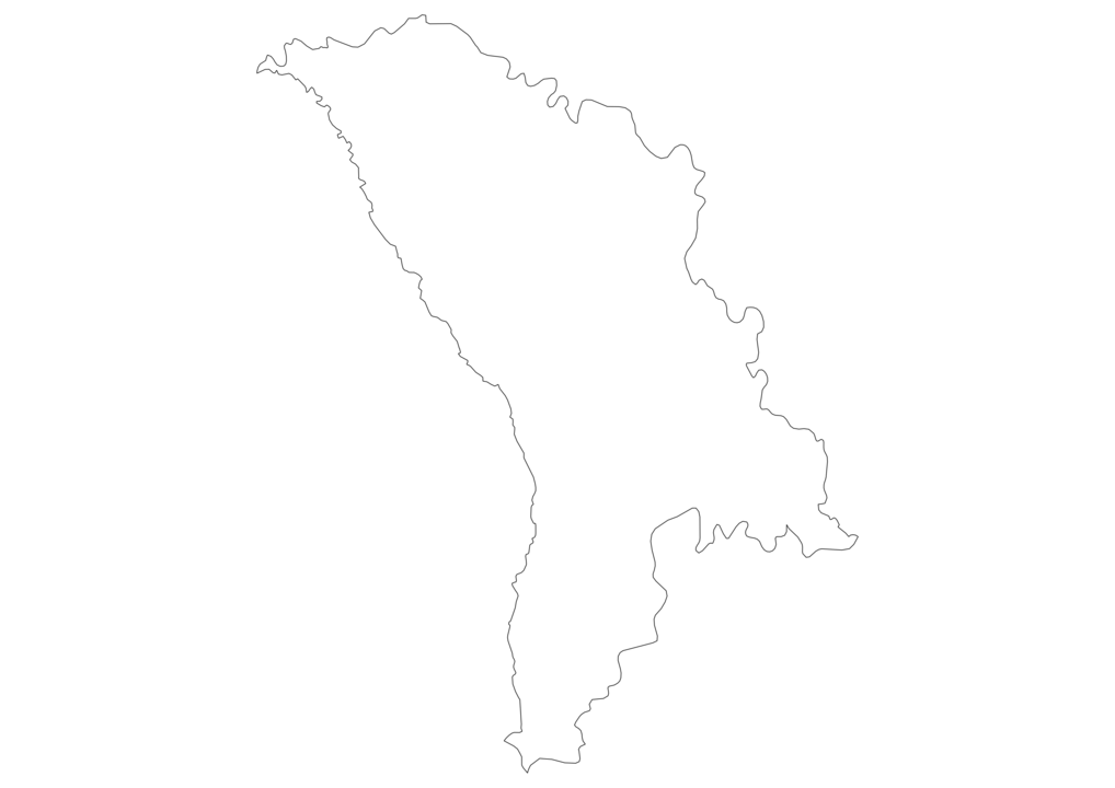 Moldova Outline Map