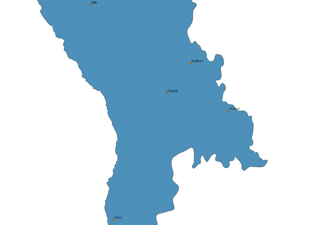 Moldova Cities Map