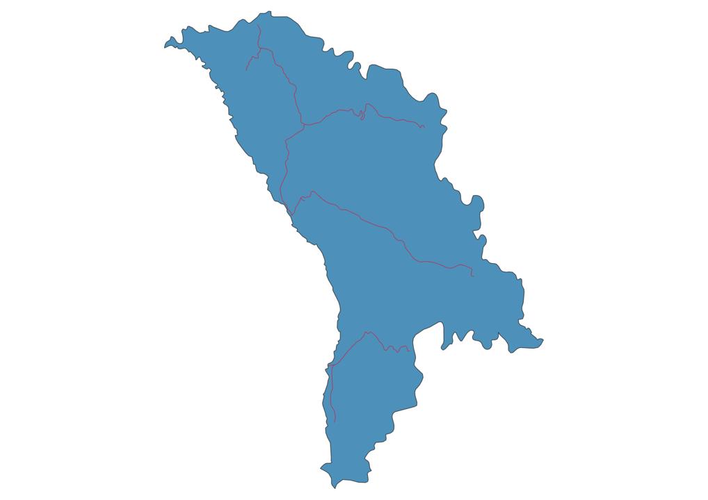 Moldova Railway Map