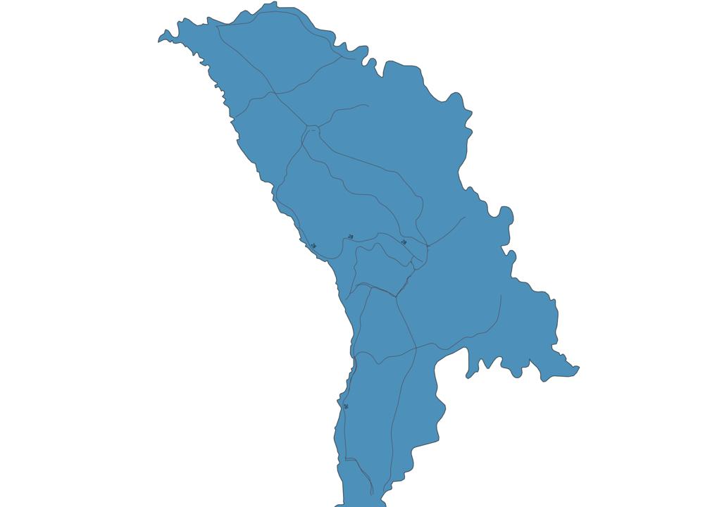 Map of Roads in Moldova
