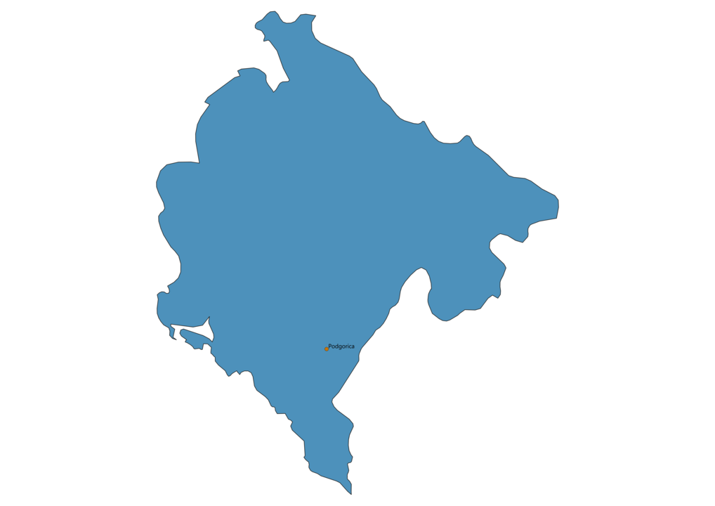 Map of Airports in Montenegro