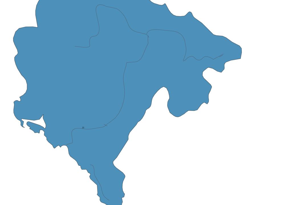 Map of Roads in Montenegro