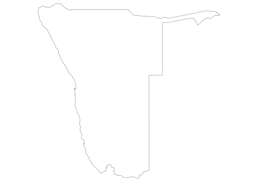 Namibia Outline Map