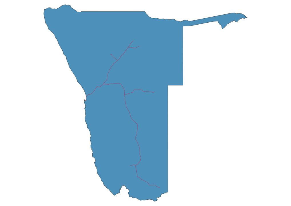 Namibia Railway Map