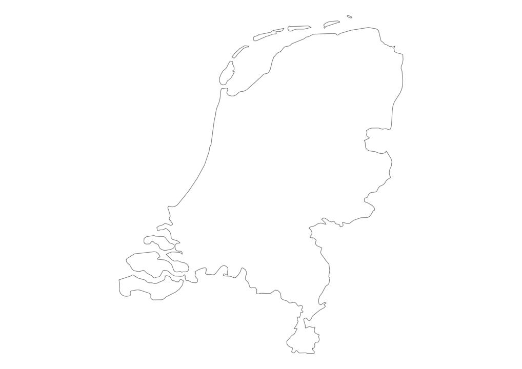 Netherlands Outline Map