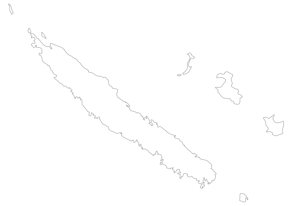 New Caledonia Outline Map