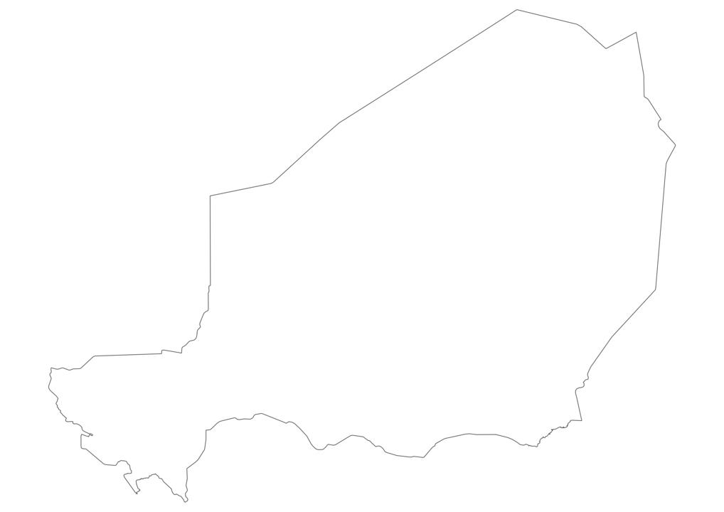 Niger Outline Map