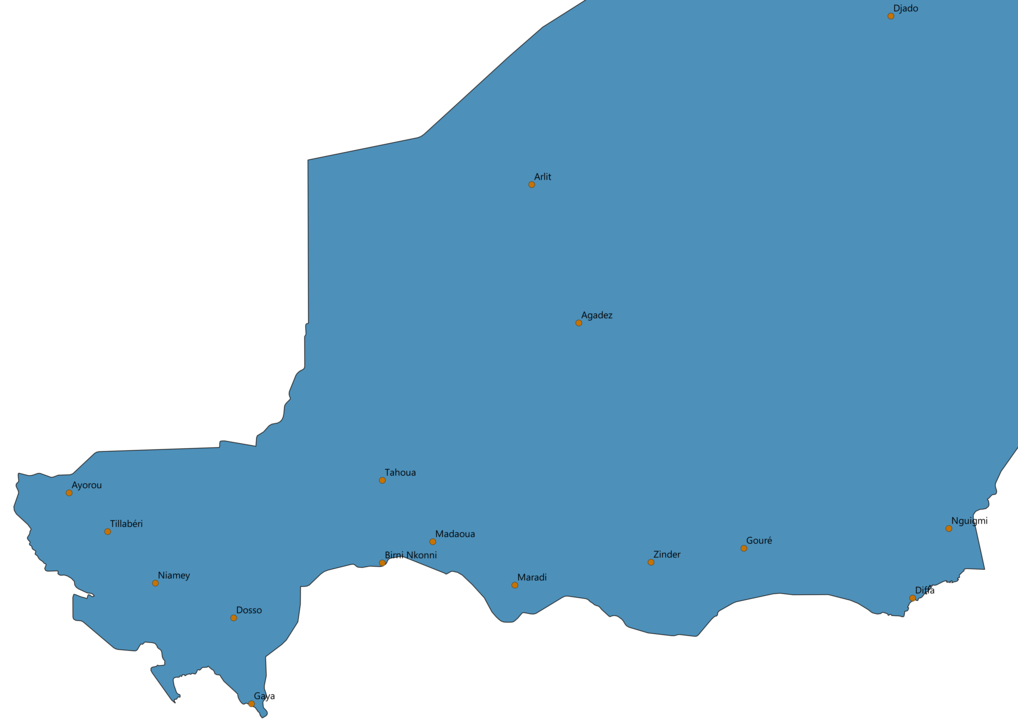 Niger Cities Map