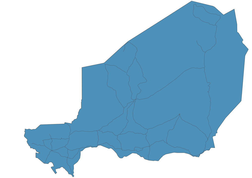 Map of Roads in Niger