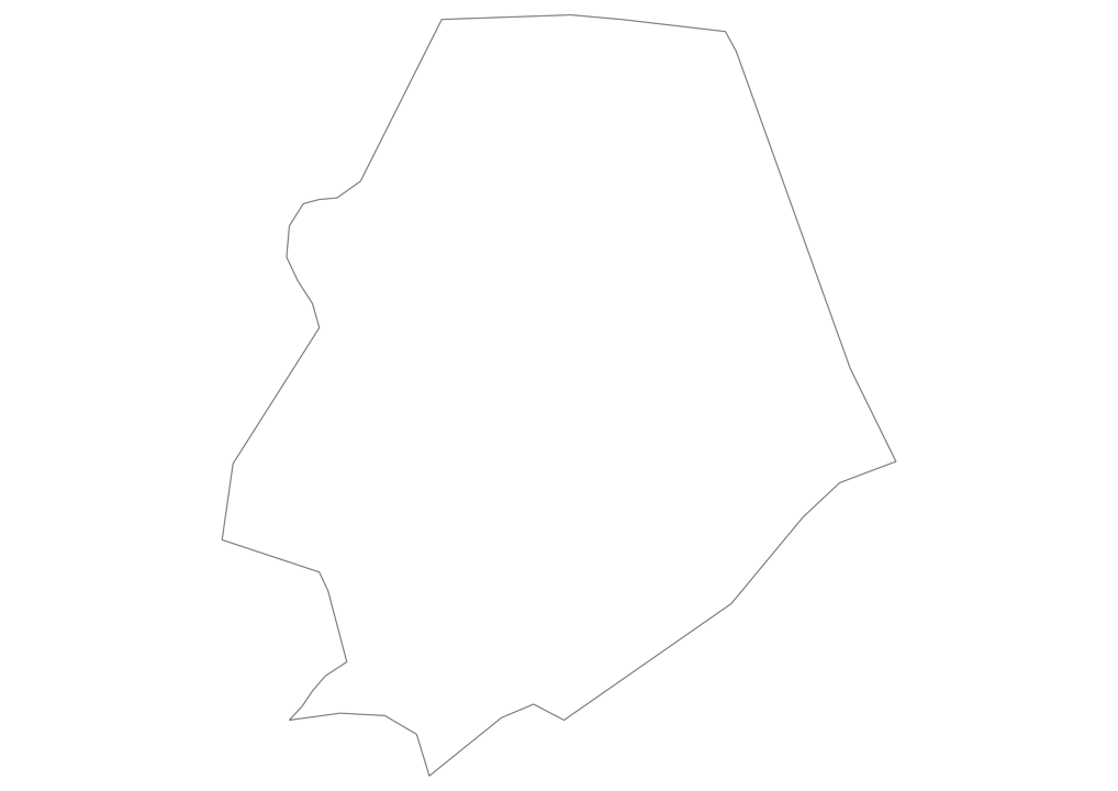 Niue Outline Map