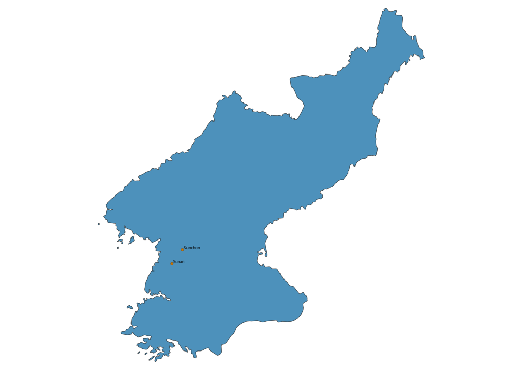 Map of Airports in North Korea