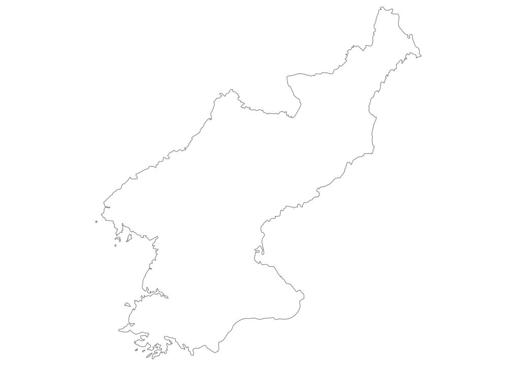 North Korea Outline Map