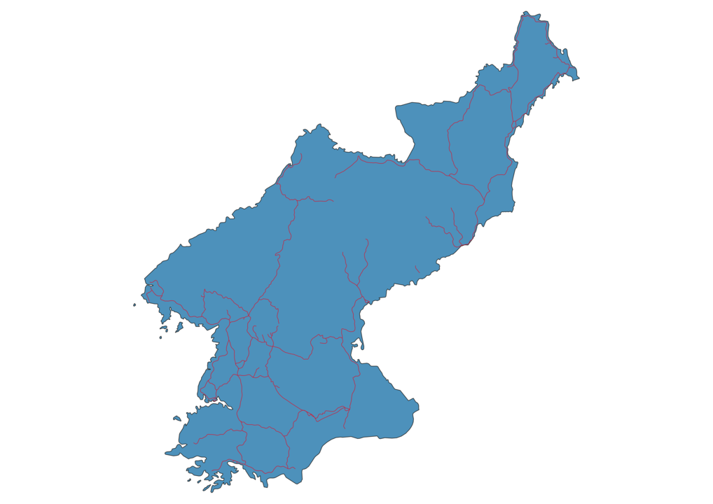 North Korea Railway Map