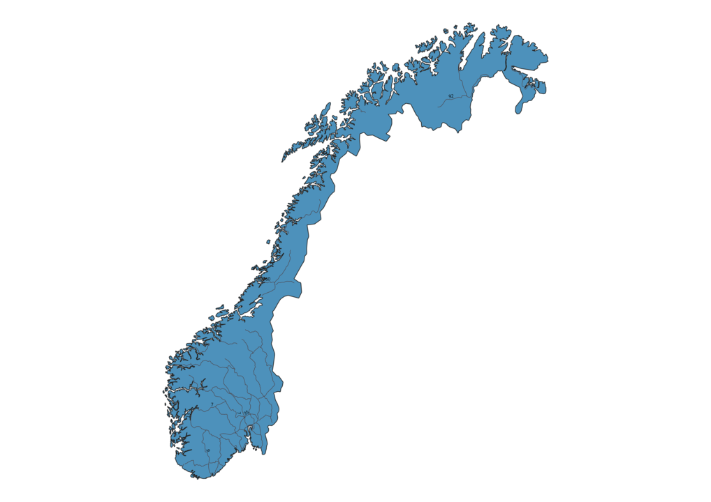 Map of Roads in Norway