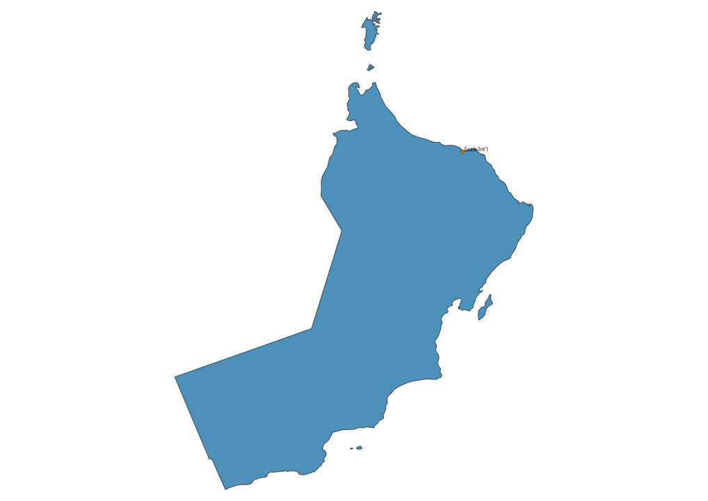 Map of Airports in Oman