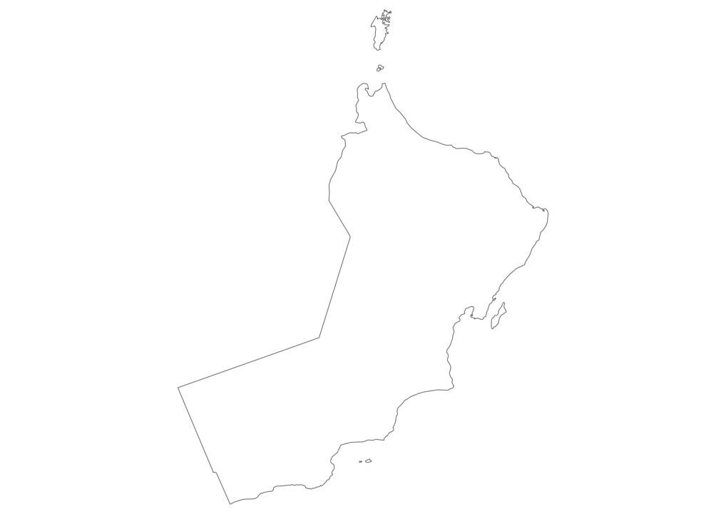 Oman Outline Map