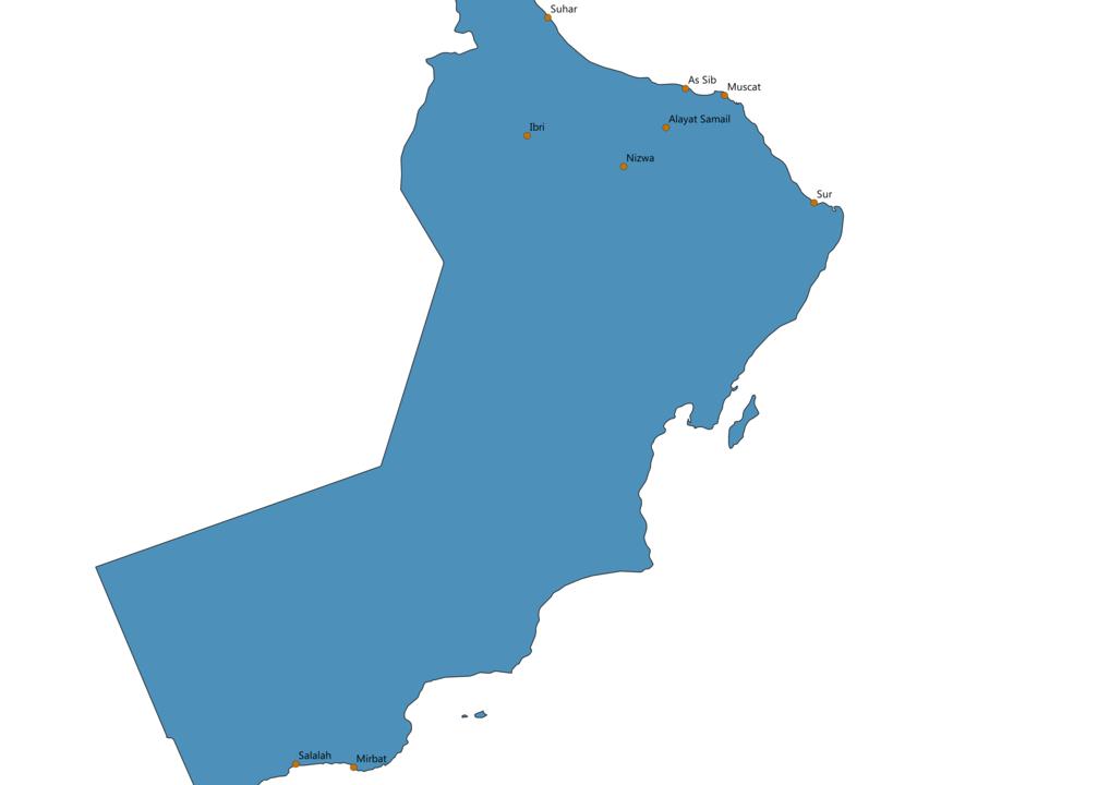 Oman Cities Map