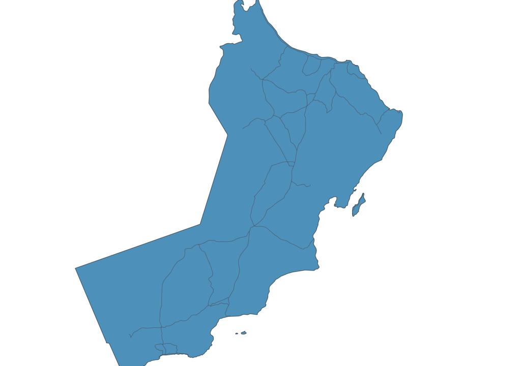 Map of Roads in Oman