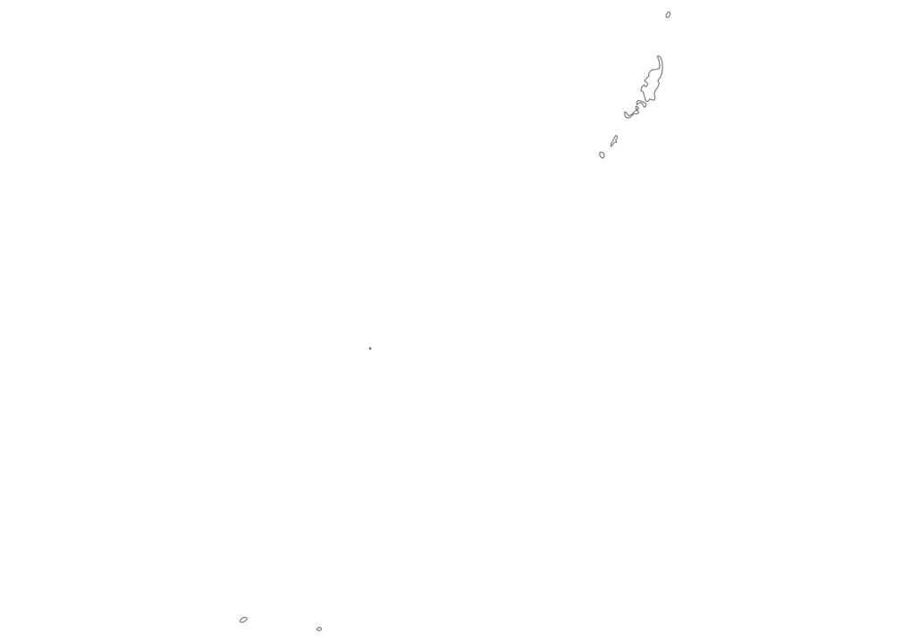 Palau Outline Map