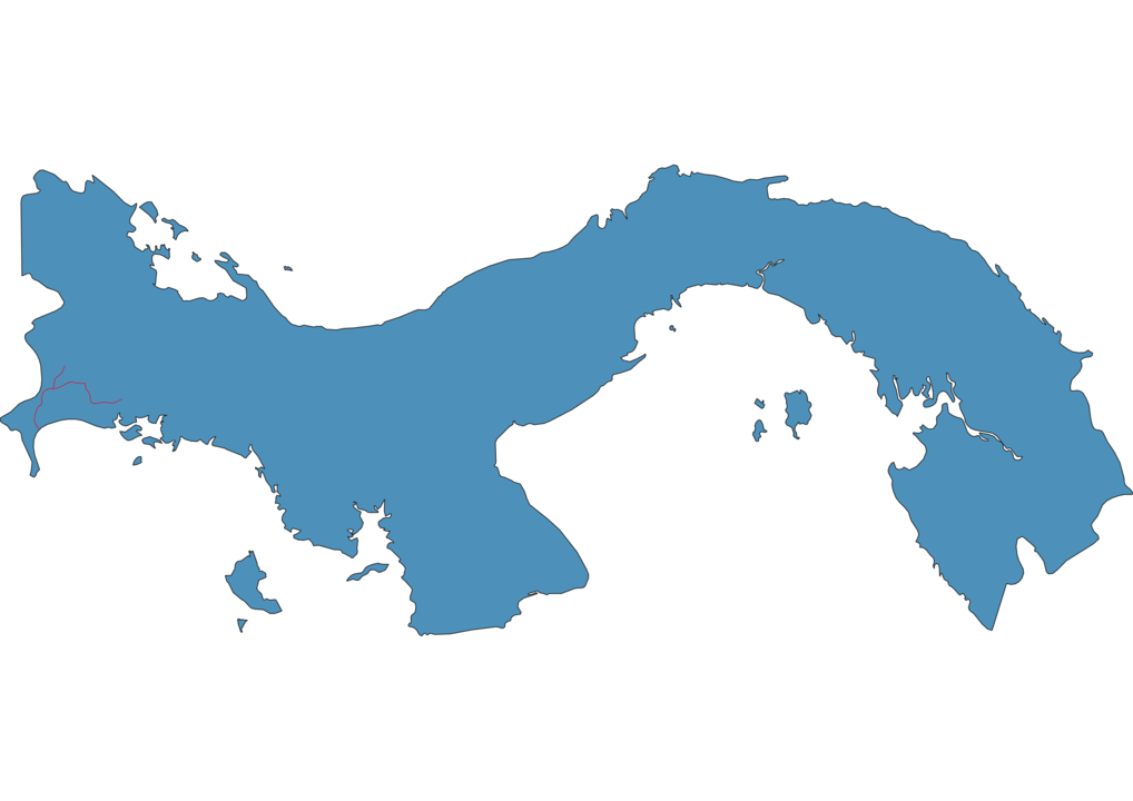 Panama Railway Map
