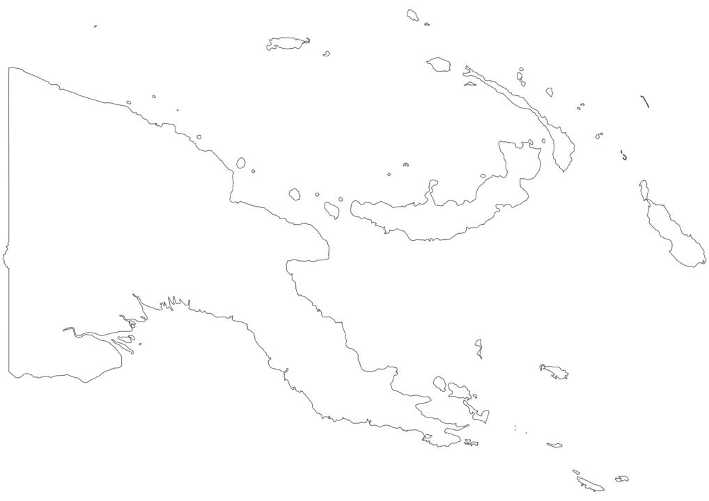 Papua New Guinea Outline Map