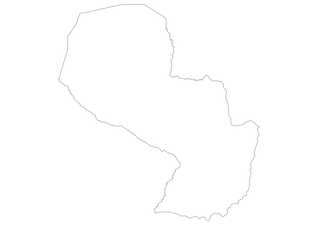 Paraguay Outline Map