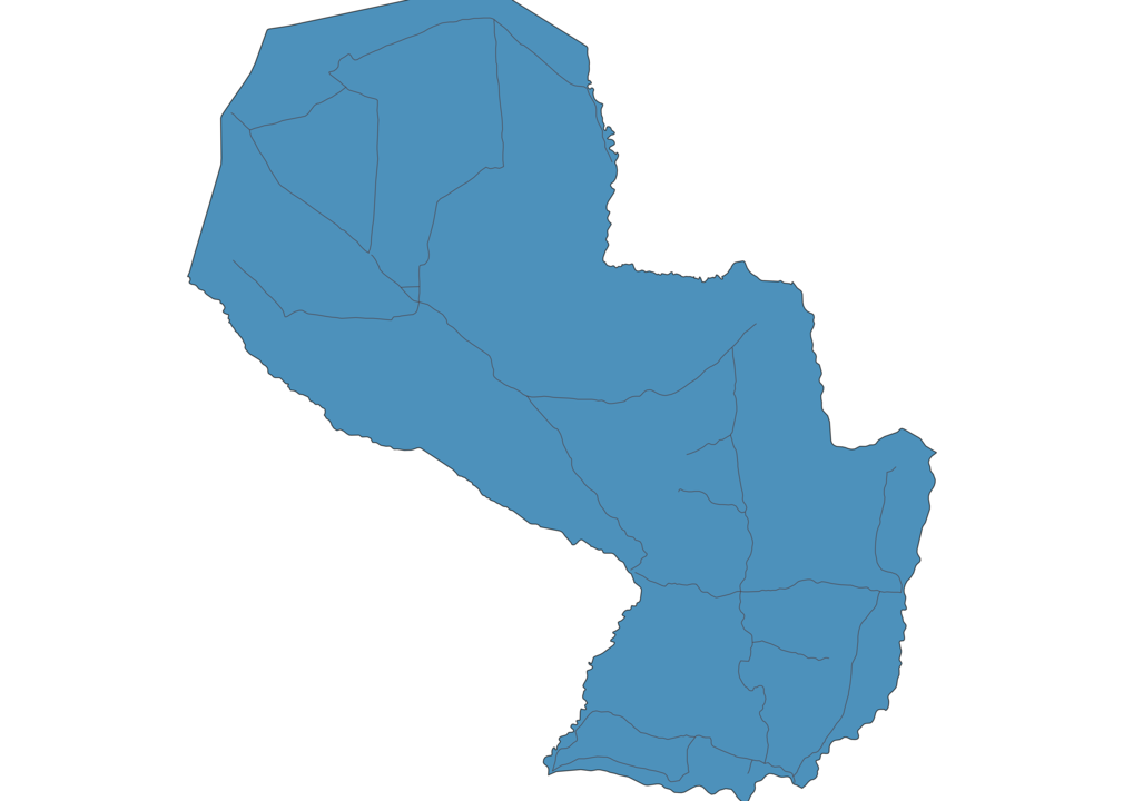 Map of Roads in Paraguay