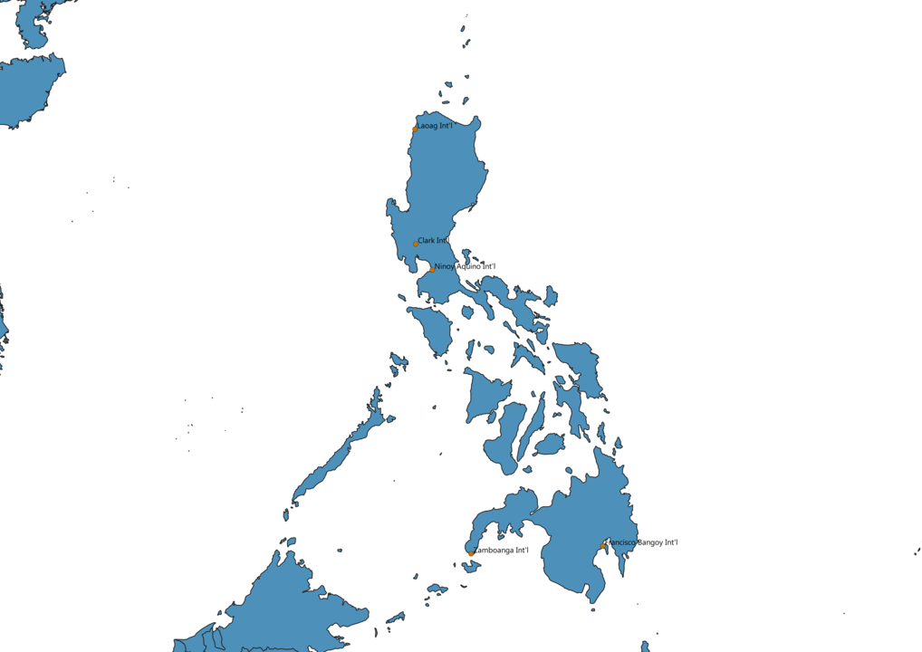 Map of Airports in Philippines