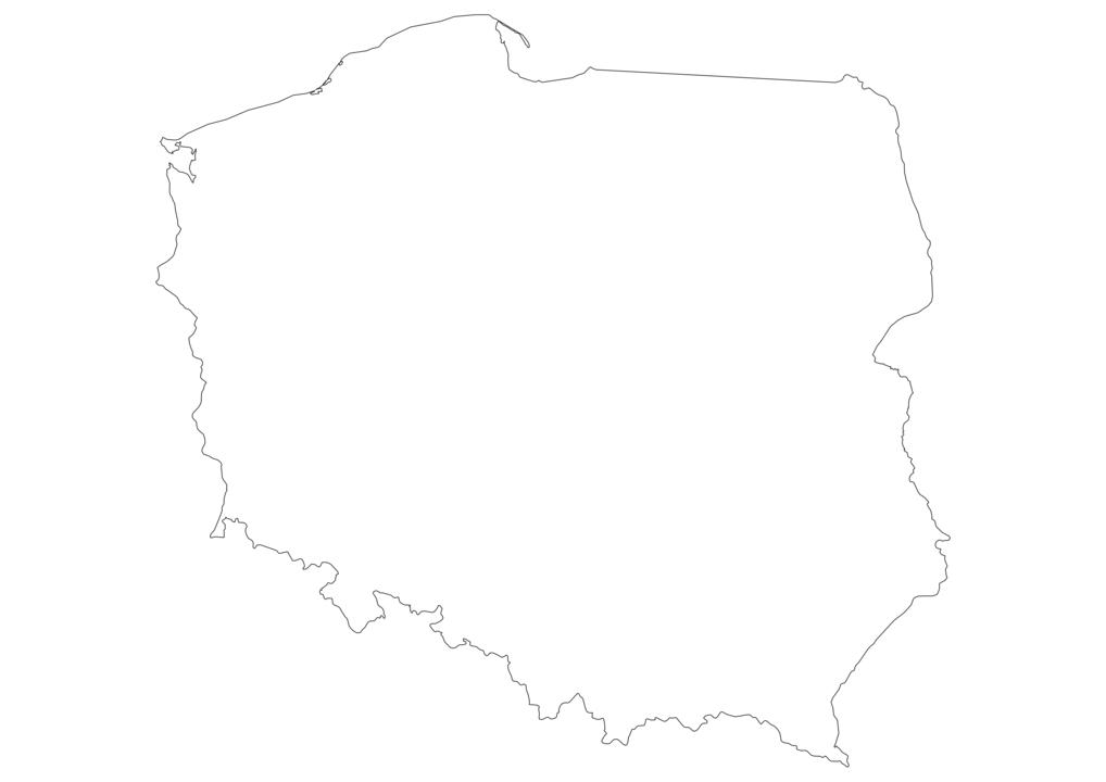 Poland Outline Map