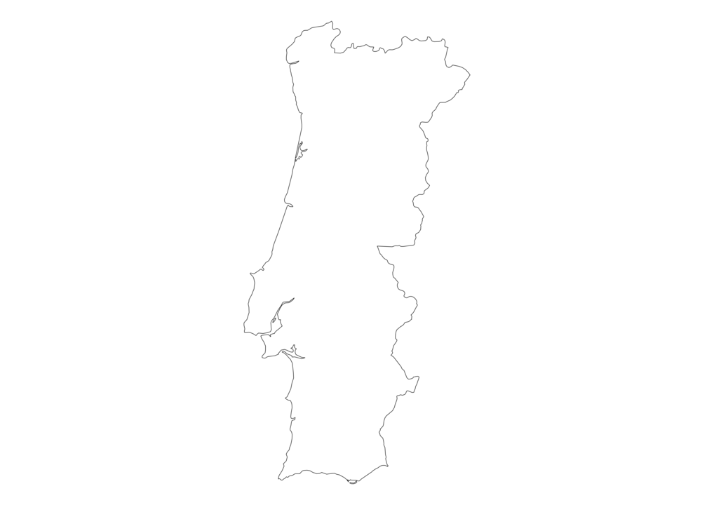 Portugal Outline Map