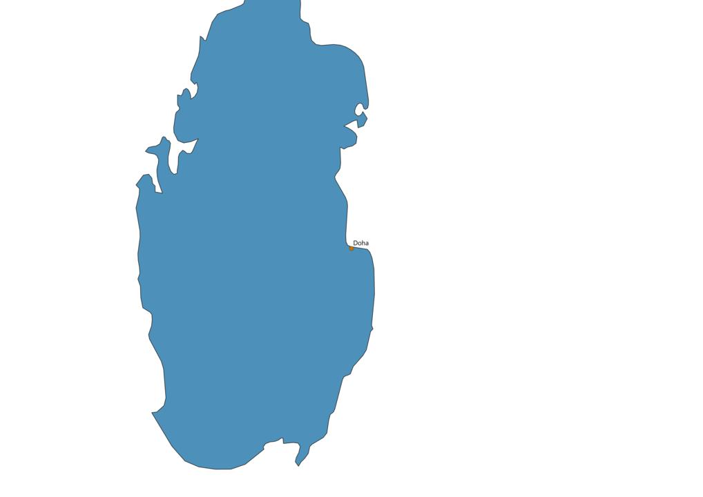 Qatar Cities Map