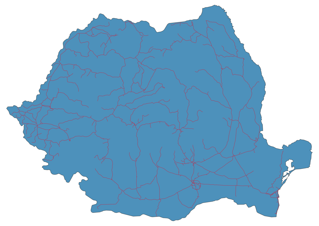Romania Railway Map