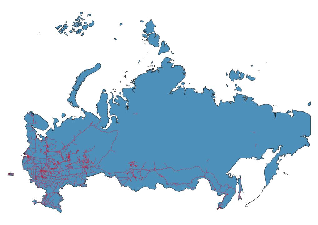 Russia Railway Map