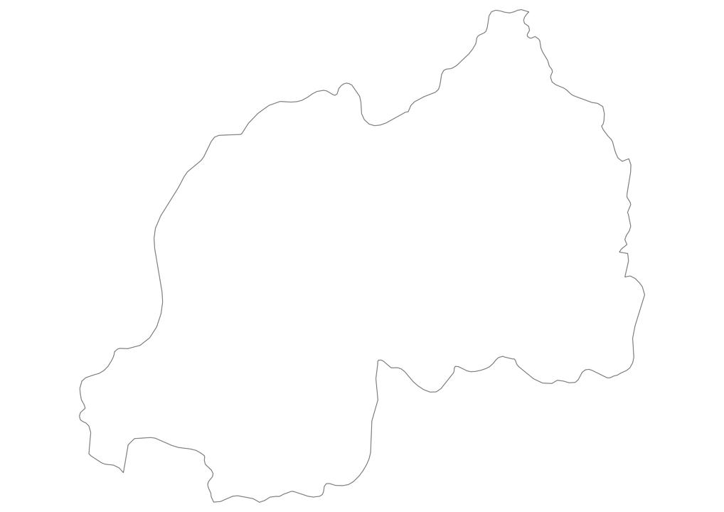 Rwanda Outline Map